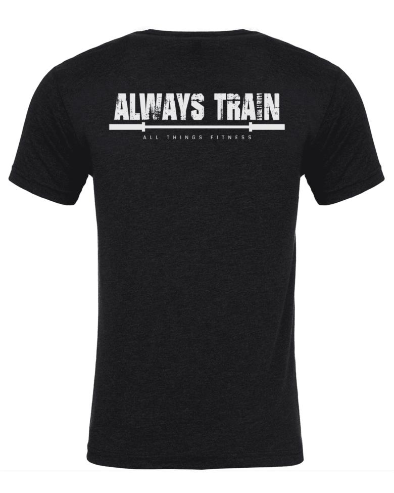 Always Train Under God Vintage Black Shirt Back